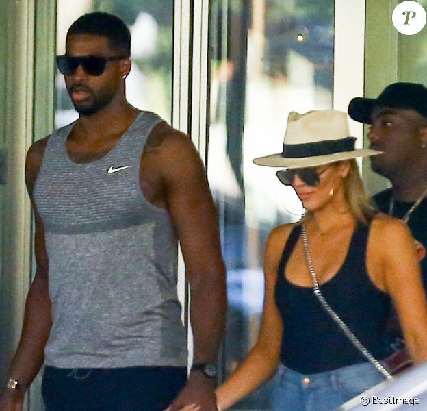 Khloe Kardashian et Tristan Thompson à Bal Harbour, Floride. Le 18 septembre 2016.