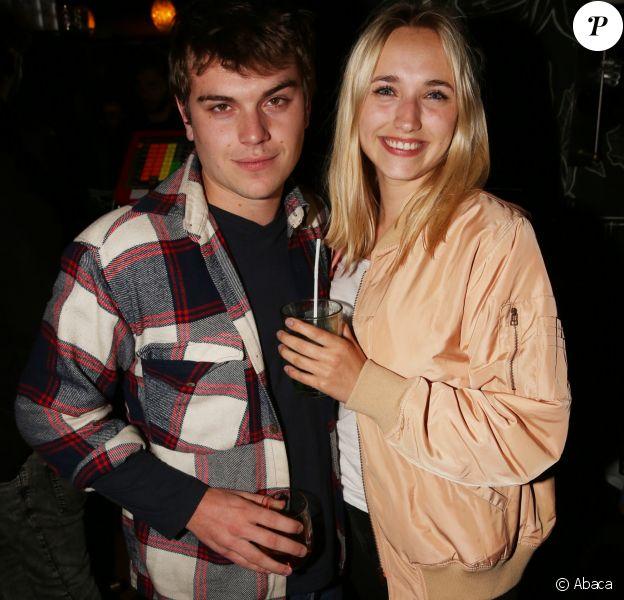 Zacharie Chasseriaud et sa compagne Chloé Jouannet l'after party de la Saison 3 de la série 'Dix Pour Cent' au Montana à Paris, France, le 25 Avril 2018.