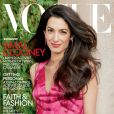 Amal Clooney en couverture du magazine Vogue de mai 2018. Photo par Annie Leibovitz.