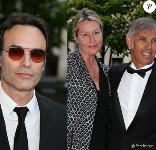 Anthony Delon, Paul Belmondo et sa femme Luana arrivent au Global Gift Gala 2018 à Paris le 25 avril. Denis Guignebourg / Bestimage