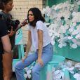 Kendall Jenner en séance photo pour Tiffany & Co. à New York, le 3 mai 2018.