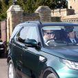 Le prince William, duc de Cambridge, se rend aux répéritions de la parade militaire pour le mariage du prince Harry et de Meghan Markle à Windsor, le 17 mai 2018.