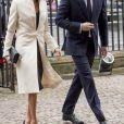Meghan Markle avec le prince Harry à l'abbaye de Westminster le 12 mars 2018 lors du Commonwealth Day.