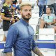 Matt Pokora (M. Pokora) au stade Vélodrome lors du match Olympique de Marseille (OM) à Toulouse Football Club (TFC) à Marseille, le 14 août 2016. © Pierre Pérusseau/Bestimage