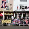 Ambiance à Windsor à la veille du mariage du prince Harry et de Meghan Markle le 18 mai 2018.