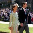 Pippa Middleton et son mari James Matthews arrivent à la chapelle St. George pour le mariage du prince Harry et de Meghan Markle au château de Windsor, Royaume Uni, le 19 mai 2018.