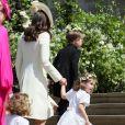 Kate Middleton, duchesse de Cambridge, arrive à la chapelle St George pour la cérémonie de mariage du prince Harry et de Meghan Markle, le 19 mai 2018.
