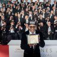 """Spike Lee (Grand Prix pour le film """"BlacKkKlansman"""") - Photocall de la remise des palmes lors de la cérémonie de clôture du 71ème Festival International du Film de Cannes le 19 mai 2017. © Borde-Moreau/Bestimage"""