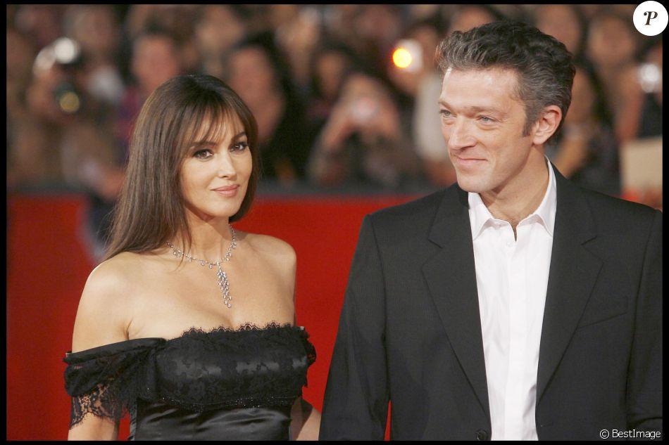 Monica Bellucci et Vincent Cassel à Rome le 23 octobre 2008.