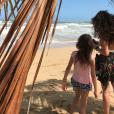 Deva et Léonie, les filles de Vincent Cassel et Monica Bellucci, en février 2018.