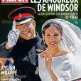"""Couverture du magazine """"Paris Match"""", numéro en kiosques le 22 mai 2018."""