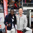 """Le prince Albert II de Monaco a reçu comme cadeau d'anniversaire un EBike """"Superchic"""" par Allen Tally - Traditionnel match de football caritatif opposant l'A.S. Star Team for Children à l'Association Mondiale des Pilotes de F1 au stade Lucien Rhein à Menton, le 22 mai 2018. L'équipe du prince A. II de Monaco a remporté la rencontre par 2 buts à 1. © Bruno Bebert/Bestimage"""