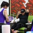 Eva Longoria enceinte se fait pouponner dans un salon de manucure/pédicure à Beverly Hills, le 17 mai 2018