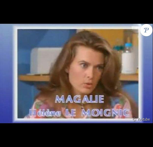 Hélène Le Moignic dans le générique de la série Les Filles d'à côté.