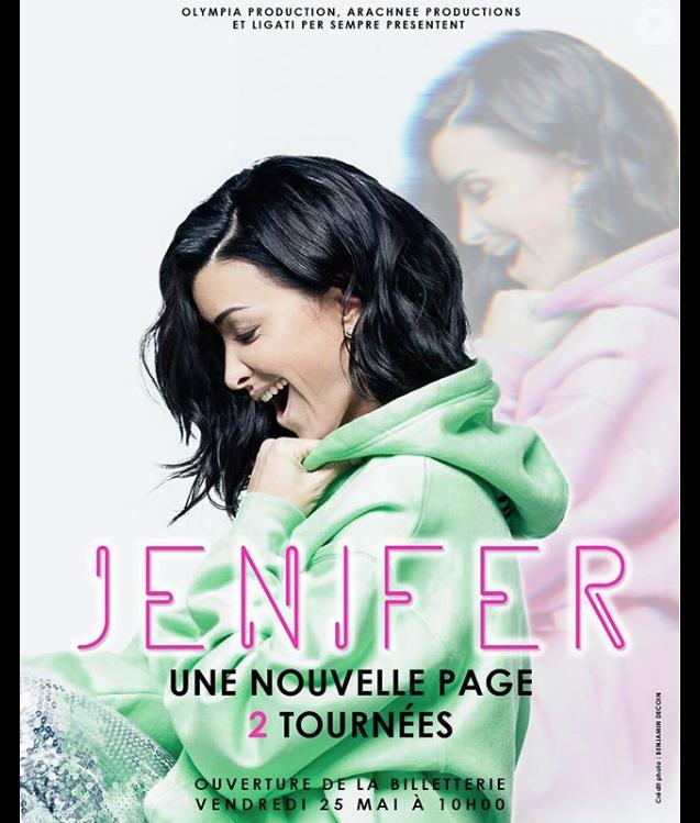 Jenifer annonce deux tournées sur son compte Instagram, mai 2018.