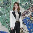 Emma Stone - Photocall du défilé de la collection croisière Louis Vuitton 2019 dans les jardins de la fondation d'art Maeght à Saint-Paul-De-Vence, France, le 28 mai 2018.