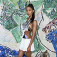 Laura Harrier - Photocall du défilé de la collection croisière Louis Vuitton 2019 dans les jardins de la fondation d'art Maeght à Saint-Paul-De-Vence, France, le 28 mai 2018.