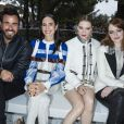 Justin Theroux, Jennifer Connelly, Léa Seydoux et Emma Stone - Front row au défilé de la collection croisière Louis Vuitton 2019 dans les jardins de la fondation d'art Maeght à Saint-Paul-De-Vence, France, le 28 mai 2018.