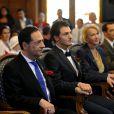 Mariage du conseiller régional PS Jean Luc Roméro et de Christophe Michel le 27 Septembre 2013 à la mairie du 12e arrondissement de Paris. Une union célébrée par Bertrand Delanoë