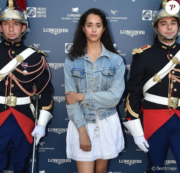 """Iman Perez - Conférence de presse du """"Longines Paris Eiffel Jumping"""" (Etape du Longines Global Champions Tour 2018) au Café de l'Homme à Paris le 29 mai 2018. © Veeren/Bestimage"""