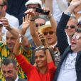 Karine Le Marchand et Stephane Plaza à Roland-Garros le 4 juin 2018.