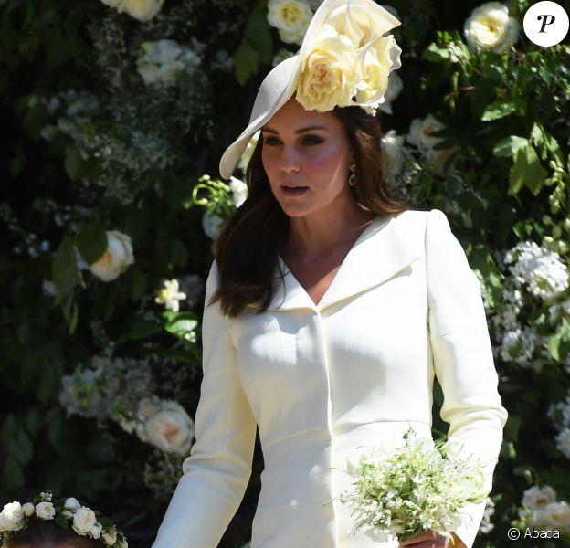 La duchesse Catherine de Cambridge au mariage du prince Harry et de la duchesse Meghan de Sussex (Meghan Markle) à Windsor le 19 mai 2018.
