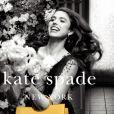 Margaret Qualley (fille de A.MacDowell) pose pour la nouvelle campagne Kate Spade printemps-été 2018.