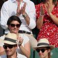 Pippa Middleton (enceinte) et son mari James Matthews lors des Internationaux de Tennis de Roland-Garros à Paris, France, le 27 mai 2018. © Jacovides-Moreau/Bestimage