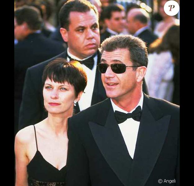 Mel Gibson et sa femme Robyn Moore au festival de Cannes 1997