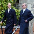 Les princes Andrew et Edward à la fête de Pâques, à Windsor