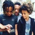 JoeyStarr avec ses fils Matisse et Kalil sur Instagram le 31 juillet 2017.