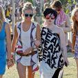 Sienna ultra lookée avec sa copine Kelly Osbourne, au Festival de Musique d'Indio aux Etats-Unis