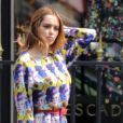Exclusif - Nabilla Benattia en shooting photo Avenue Montaigne à Paris le 23 mai 2018