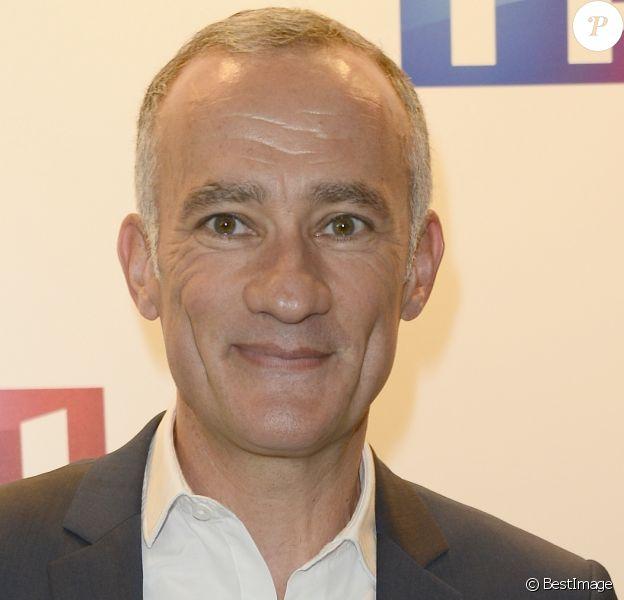 Gilles Bouleau - Conférence de presse de TF1 pour le lancement de l'Euro 2016 à Paris le 17 mai 2016. © Coadic Guirec/Bestimage