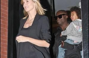 Heidi Klum, enceinte, en sortie familiale nocturne : on aperçoit déjà un petit ventre !