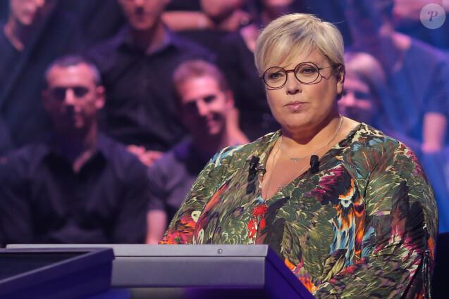 """Exclusif - Laurence Boccolini - Enregistrement à l'occasion des 15 ans de l'émission """"Qui veut gagner des millions ?"""" sur TF1 au studio Carrère A de La Plaine Saint-Denis le 31 aout 2015."""