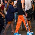 Ariana Grande et son compagnon Pete Davidson font du shopping dans les rues de New York, le 29 juin 2018
