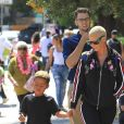 """Amber Rose accompagne son fils Sebastian à la première de """"Hotel Transylvania 3: Summer Vacation"""" au Regency Village à Westwood, le 30 juin 2018"""