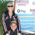 """Amber Rose et son fils Sebastian à la première de """"Hotel Transylvania 3: Summer Vacation"""" au Regency Village à Westwood, le 30 juin 2018"""