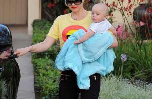 Gwen Stefani  et son chéri : Pâques avec leurs bouts de chou... version rock-classe !