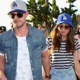 Justin Timberlake et sa femme Jessica Biel arrivent, main dans la main, au match de baseball des Dodgers contre les Astros au Stade des Dodgers à Los Angeles, le 24 octobre 2017.