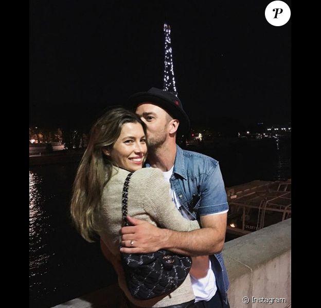 Jessica Biel et Justin Timberlake à Paris dans la nuit du 2 au 3 juillet 2018.