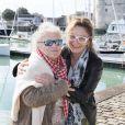 """Corinne Masiero et Josée Dayan - Photocall """"Capitaine Marleau"""" lors de la 19e édition du Festival de la Fiction TV de la Rochelle, le 16 septembre 2017. © Patrick Bernard/Bestimage"""