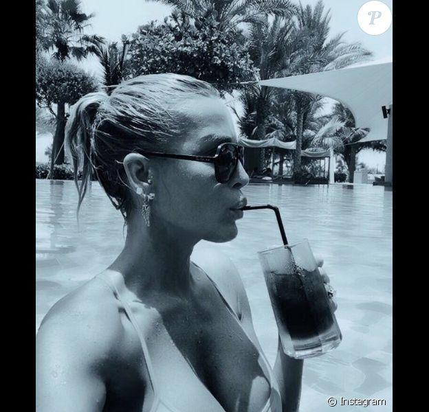 Ophélie Winter en vacances à Dubaï. Juin / juillet 2018.