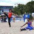 """Chantelle Broomes - Remise du Prix """"Renault"""" lors du Longines Paris Eiffel Jumping au Champ de Mars à Paris. Le 4 juillet 2018 © Perusseau-Veeren / Bestimage"""