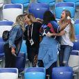 Yeo Pogba (mère de Paul Pogba) et Maria Salaues (compagne de Paul Pogba) - Célébrités dans les tribunes lors des quarts de finale de la Coupe du monde opposant la France à l'Uruguay au stade de Nijni Novgorod à Nijni Novgorod, Russie, le 6 juillet 2018. La France a gagné 2-0. © Cyril Moreau/Bestimage