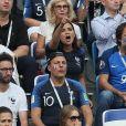 Valérie Bègue (Miss France 2008), Emmanuel Levy et Jean Roch - Célébrités dans les tribunes lors des quarts de finale de la Coupe du monde opposant la France à l'Uruguay au stade de Nijni Novgorod à Nijni Novgorod, Russie, le 6 juillet 2018. La France a gagné 2-0. © Cyril Moreau/Bestimage
