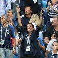 Leïla Kaddour-Boudadi - Célébrités dans les tribunes lors des quarts de finale de la Coupe du monde opposant la France à l'Uruguay au stade de Nijni Novgorod à Nijni Novgorod, Russie, le 6 juillet 2018. La France a gagné 2-0. © Cyril Moreau/Bestimage