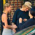 Hailey Baldwin et Justin Bieber sur un photoshoot à New York, le 21 juin 2018.