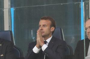 France-Belgique : Emmanuel Macron ivre de joie devant la famille royale belge